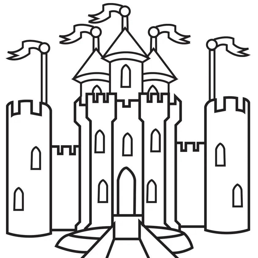 Dibujos Para Colorear De Castillo De Princesas