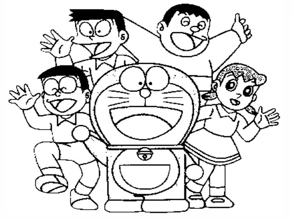 Doraemon para colorear, pintar e imprimir