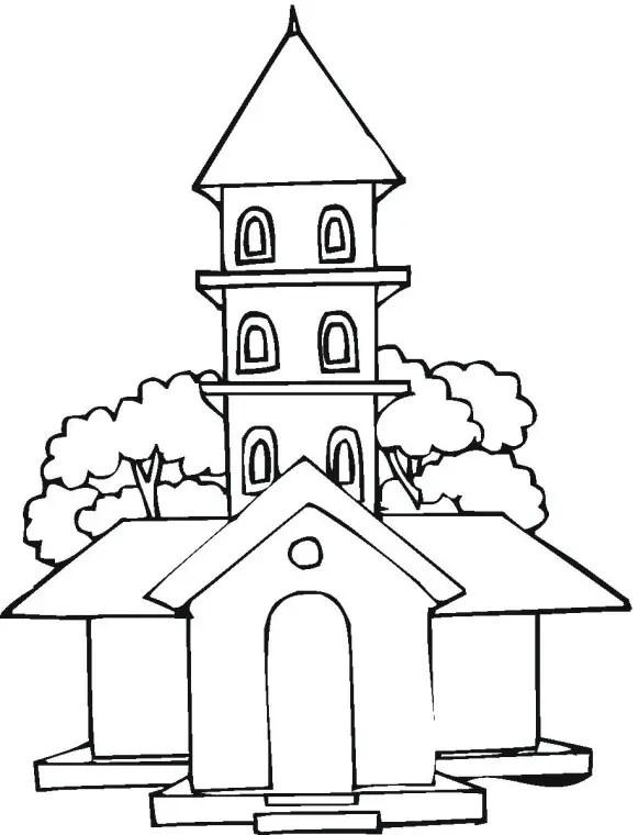 Imagenes de iglesia para colorear y pintar
