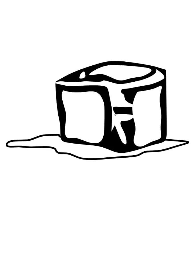 Dibujos Para Colorear De Cubos De Hielo