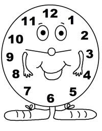 Reloj para colorear, pintar e imprimir