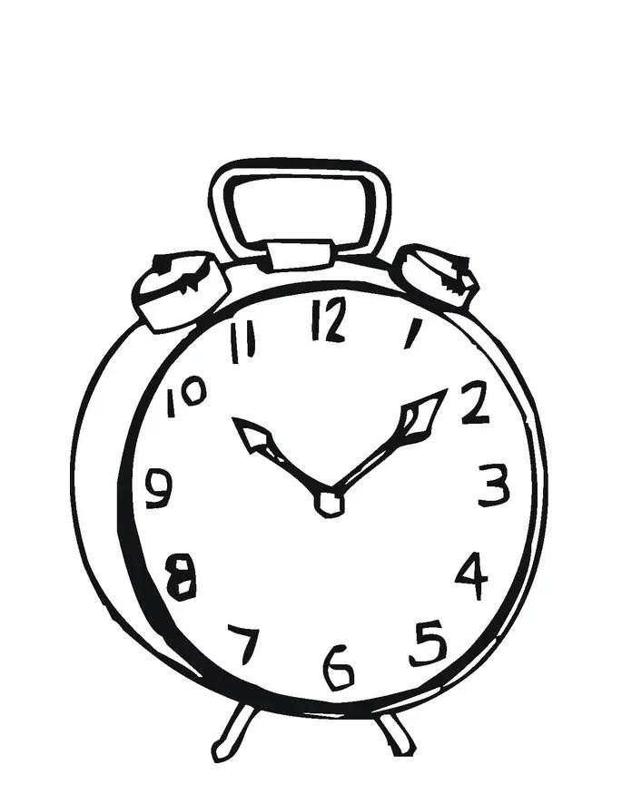 Reloj Para Colorear Pintar E Imprimir