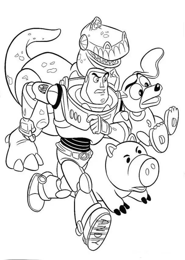 Toy Story para colorear, pintar e imprimir