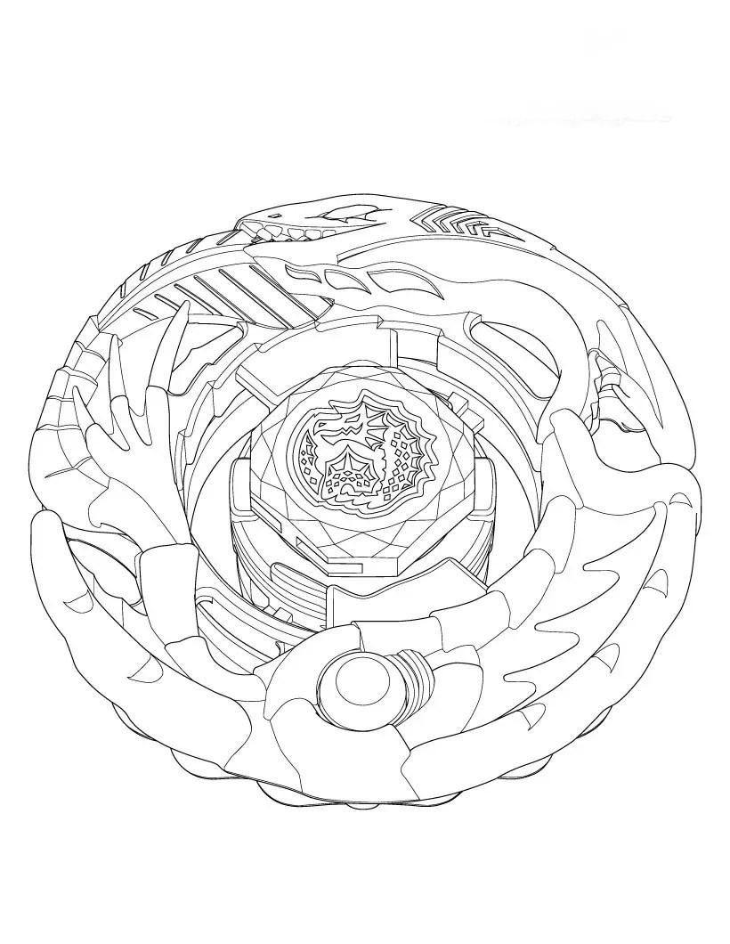 beyblade dibujos para colorear