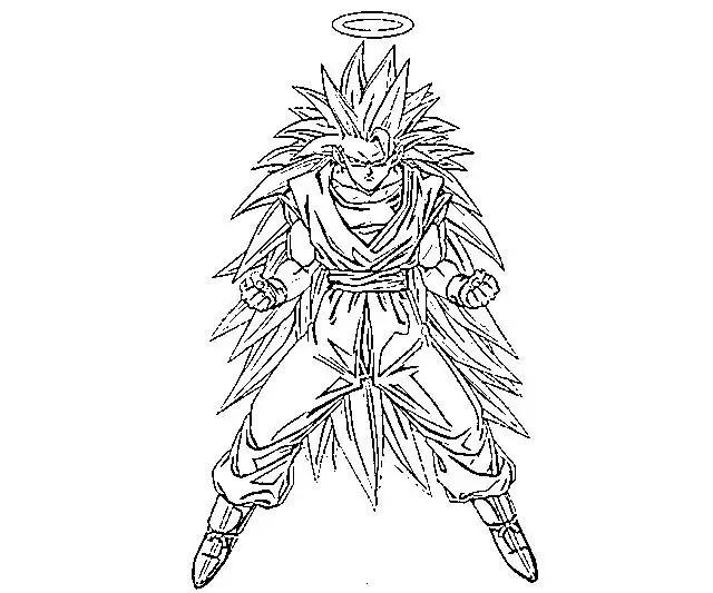Dibujos Para Colorear Goku Para Imprimir: Magen De Goku Para Colorear E Imprimir Imagen Para