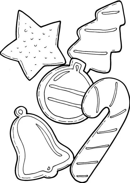 Galletas De Navidad Para Colorear