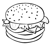 Dibujos de hamburguesa para colorear