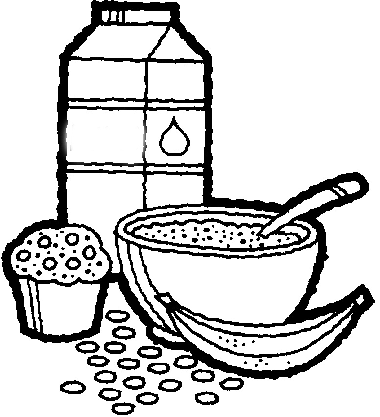 Cereal Bowl Coloring Page Coloring Pages