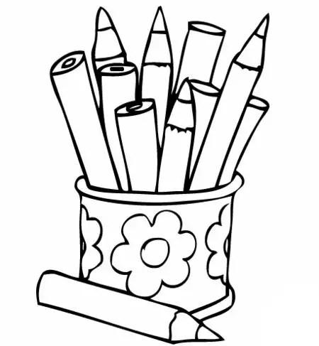 Dibujos para colorear de lapices de colores