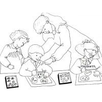 Dibujos de maestra para colorear