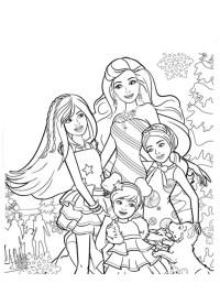 Dibujos De Barbie De Navidad.Dibujos Para Colorear De Barbie Y Ken Fotos De Barbie Y