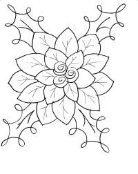 Flor de nochebuena para colorear e imprimir