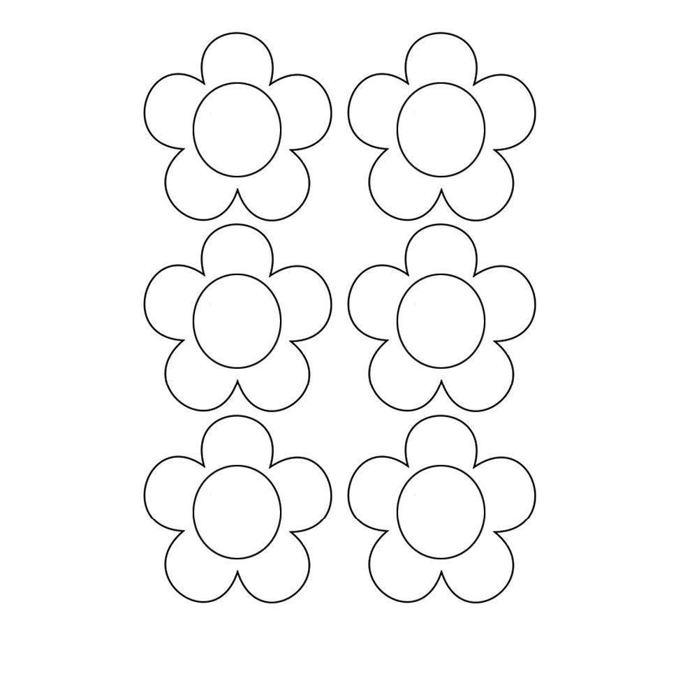 Siluetas De Flores Para Imprimir