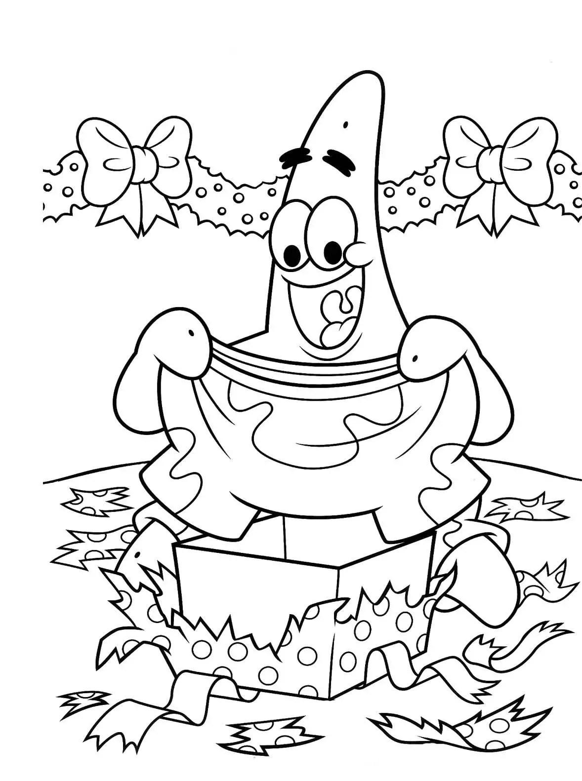 Dibujos Para Colorear Bob Esponja Navidad - Impresion gratuita
