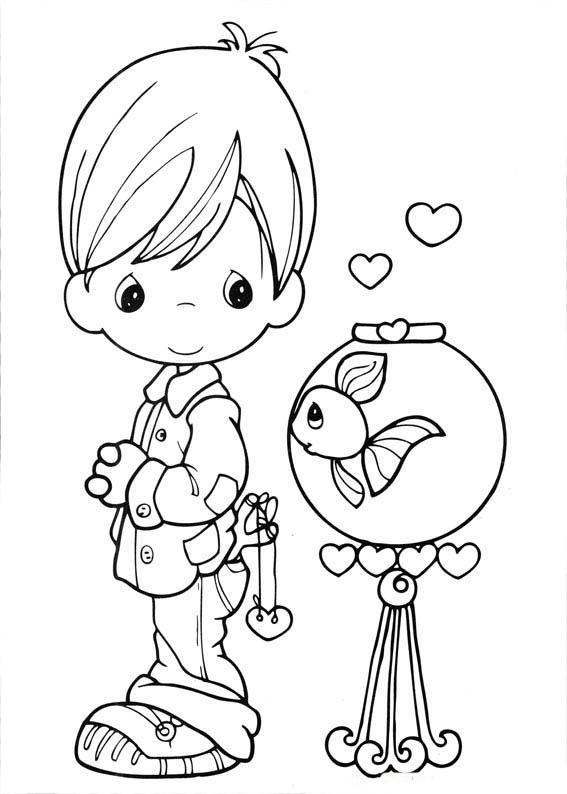Christmas Coloring Pages Precious Moments