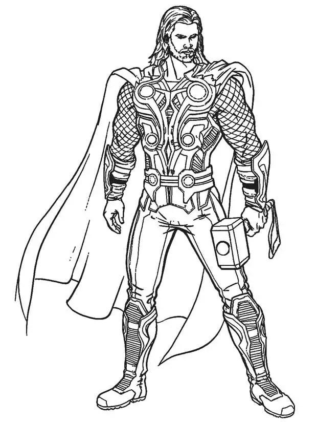 Disney xd avengers coloring pages ~ Thor para colorear, pintar e imprimir