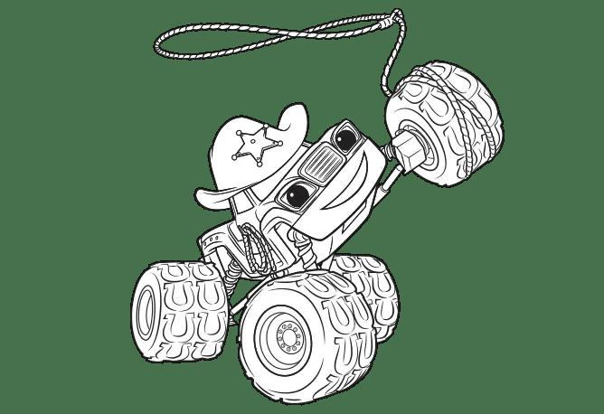 Print them all for free. Dibujos de Blaze y los monster machine para colorear