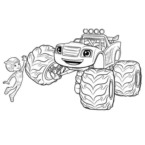 Dibujos de Blaze y los monster machine para colorear