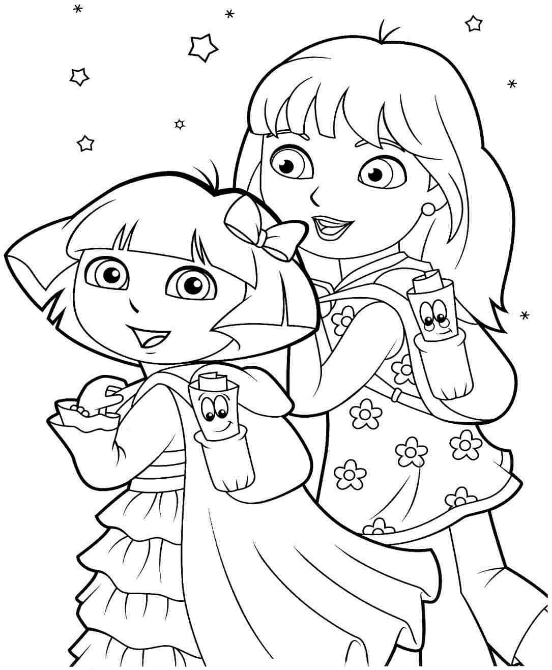 Printable Coloring Pages Dora And Friends Into The City Coloring Pages