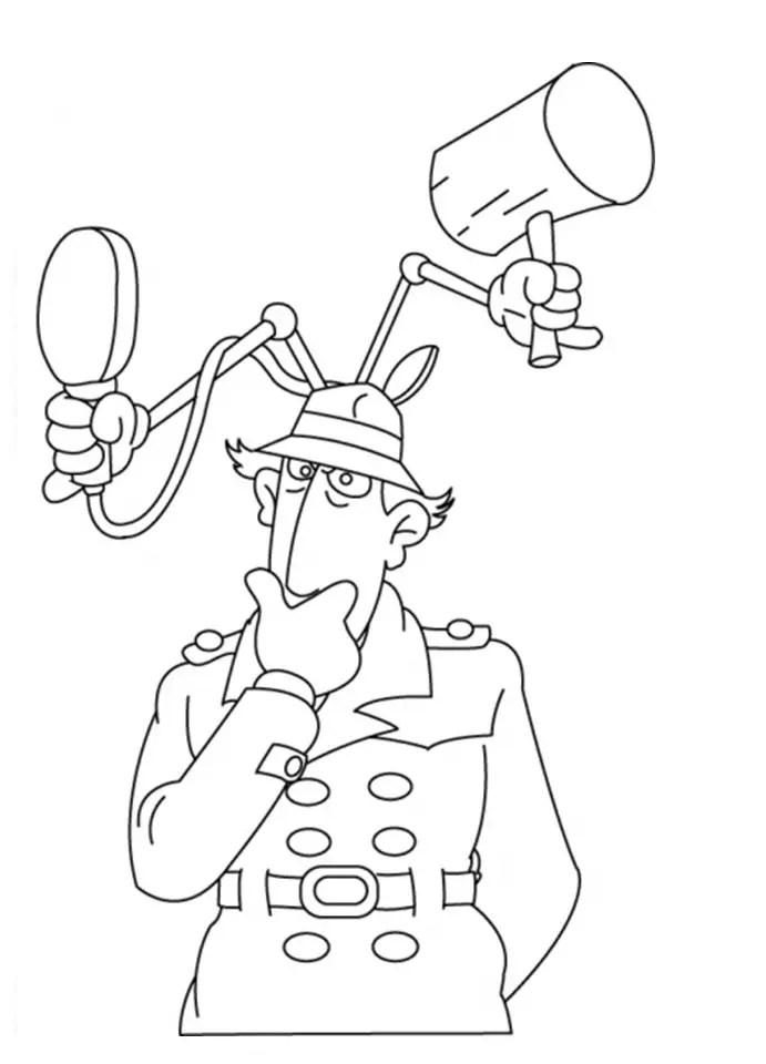 Dibujos de Inspector Gadget para colorear