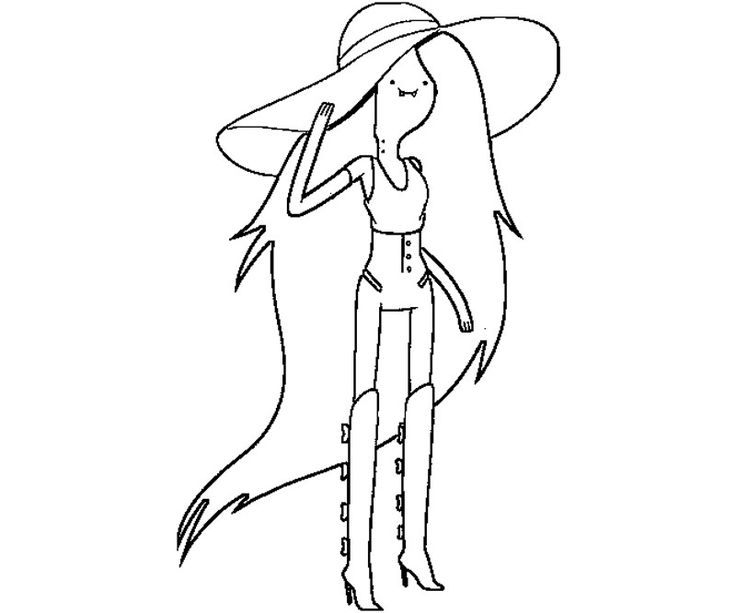 How To Draw Marceline The Vampire Queen From Adventure