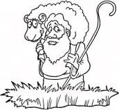 Desenho de ovelha para colorir e pintar