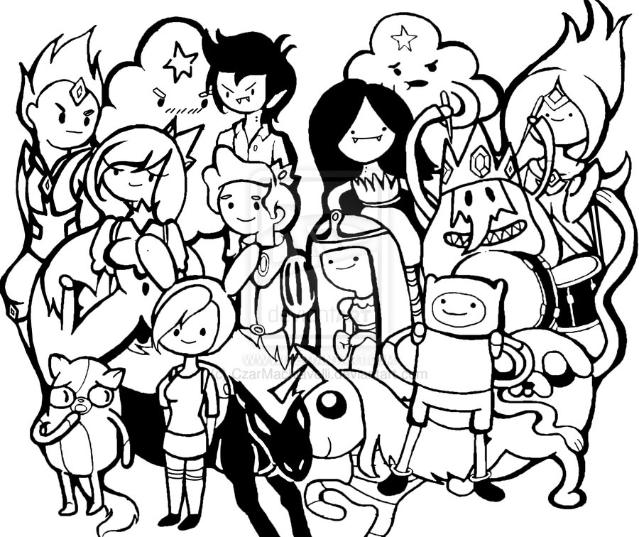 Desenhos para colorir Hora de Aventura