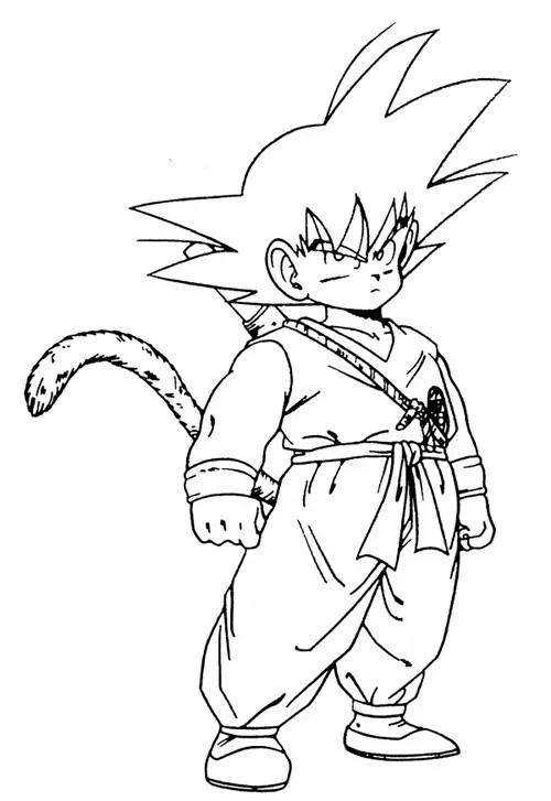 desenhos para colorir do goku