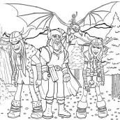 Como treinar seu dragão para colorir