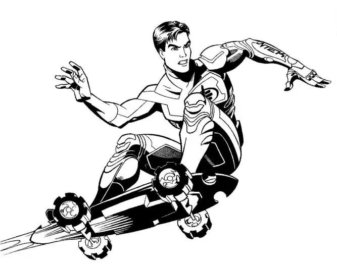 imagens para colorir do max steel