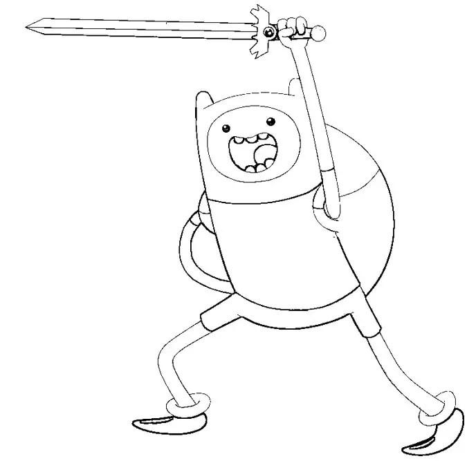 Jogo Desenhos Para Colorir Finn No Jogos Online Wx