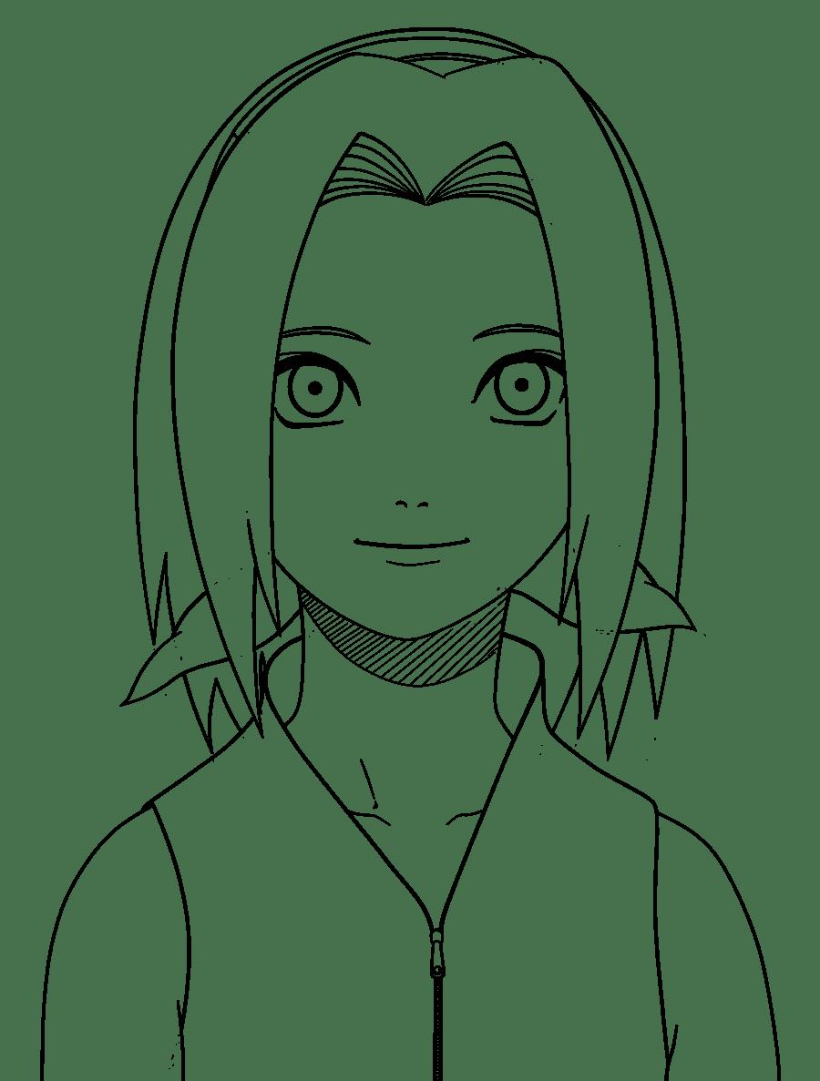 Desenhos Para Colorir Da Sakura Do Naruto Sketch Coloring Page