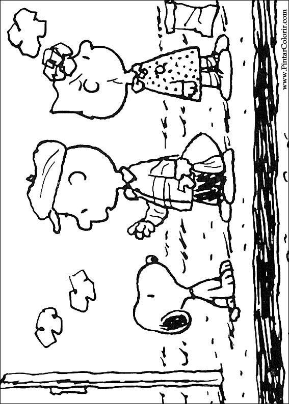 スヌーピーのペイント&カラー図面 - プリントデザイン030