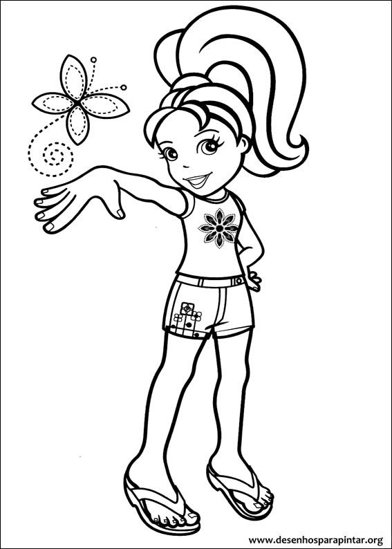 Bonecas Polly Pocket desenhos para imprimir pintar e
