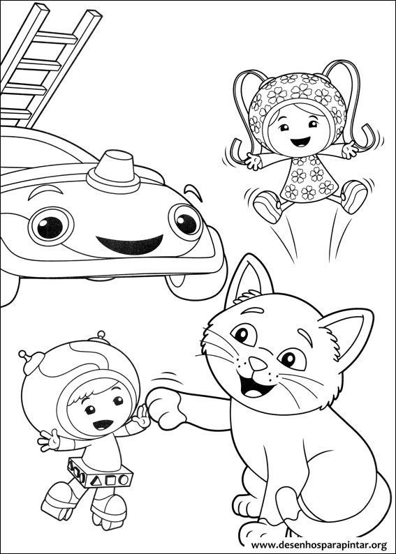 Umizoomi Nick Jr desenhos para imprimir colorir e pintar