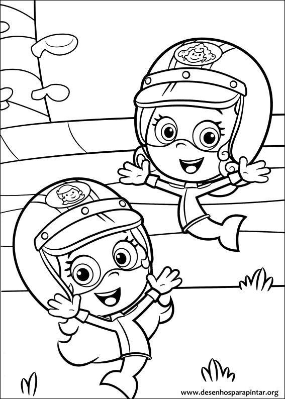 Bubble Guppies desenhos para imprimir colorir e pintar