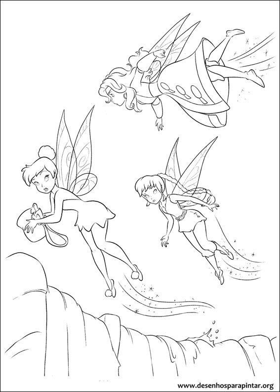 Desenhos Da Tinkerbell Para Imprimir E Colorir
