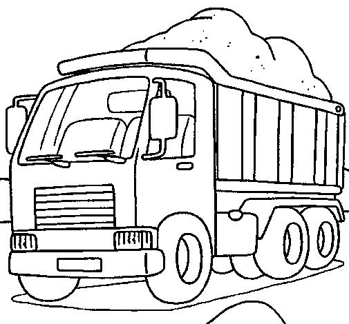 Desenhos de caminhões para imprimir colorir e pintar