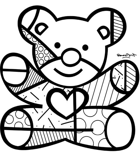 Pinturas do Romero Britto desenhos para imprimir colorir e