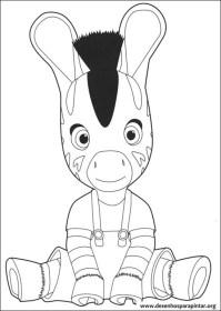 Zou a Zebra da Disney desenhos para imprimir colorir e