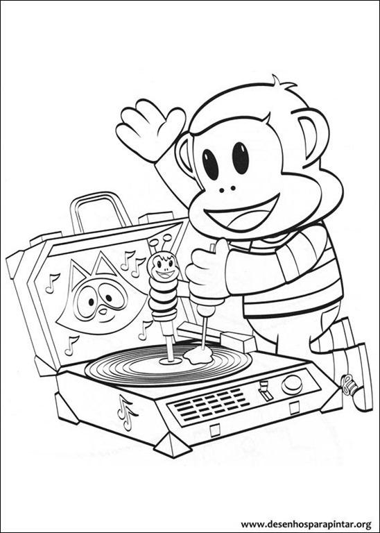 Julius Jr desenhos para pintar imprimir e colorir do