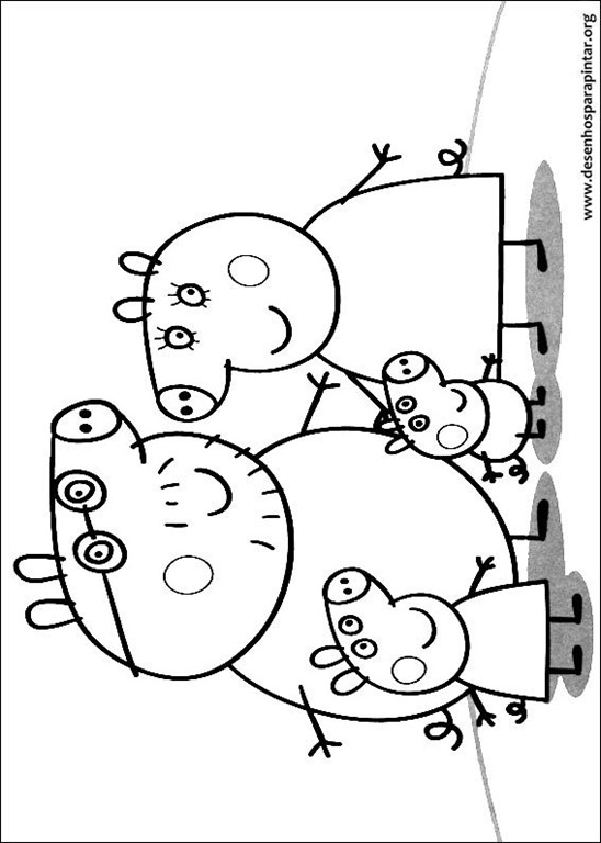 Novos desenhos da Peppa Pig e George para imprimir colorir