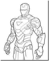 Homem de Ferro / Iron Man desenhos para colorir imprimir e