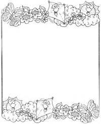 Borde de flores para pintar