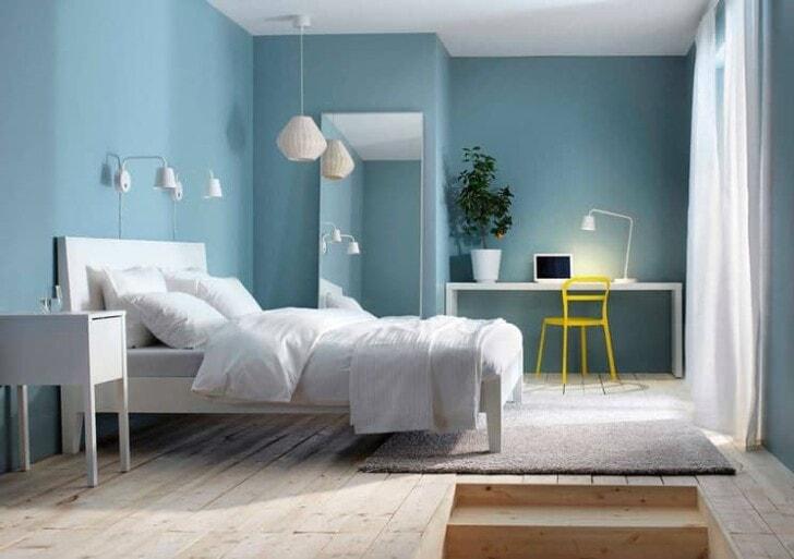 Cmo combinar paredes de color Azul Celeste  PintoMiCasacom