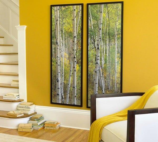 El color mostaza en la pintura de las paredes y la