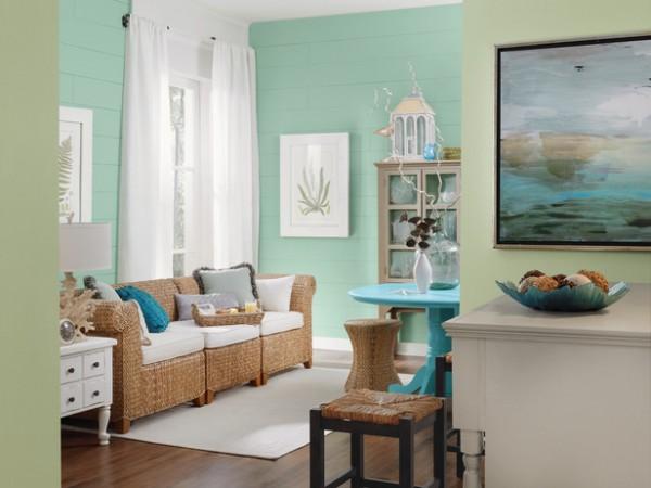 Tonalidades verdes para pintar las paredes  PintoMiCasacom