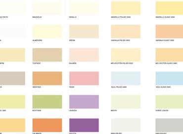 Cartas de Color de Pinturas para el Hogar  Pinturas PROA