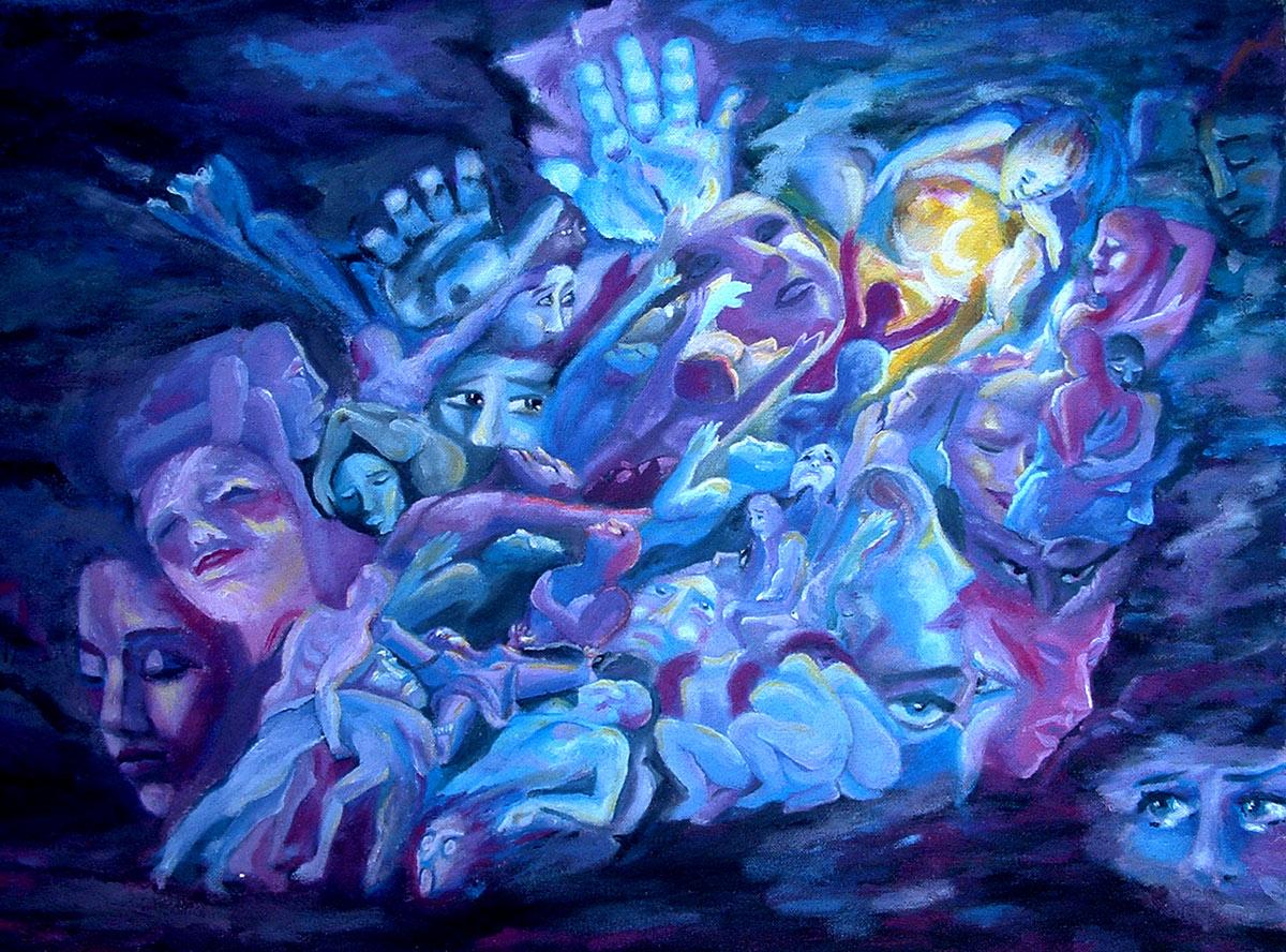 """""""La humanidad"""", óleo de Cristina Alejos Cañada"""