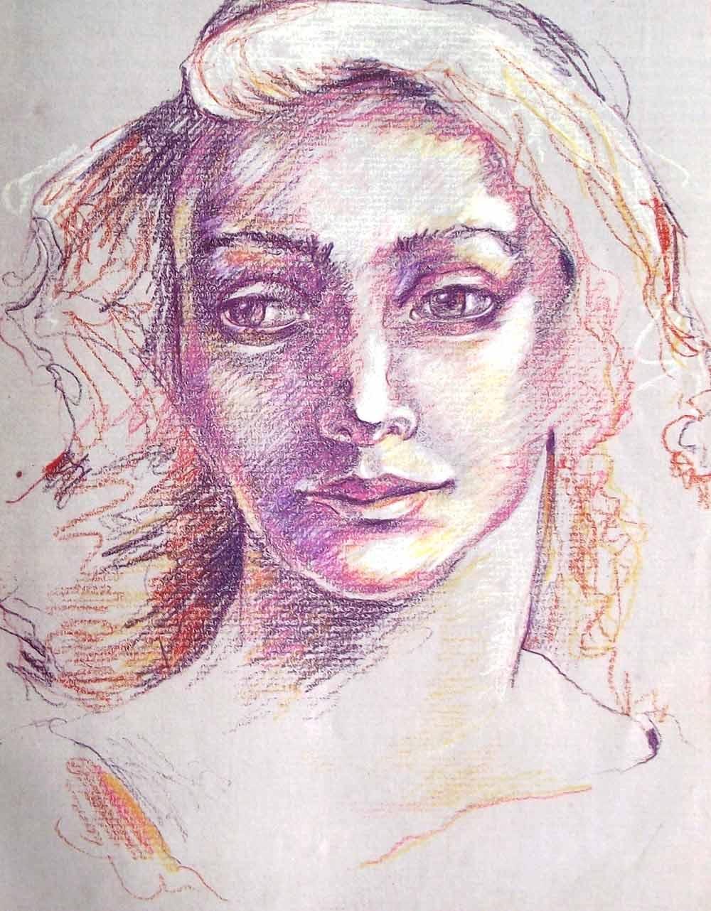 Dibujar un rostro con lpices de colores Paso a paso